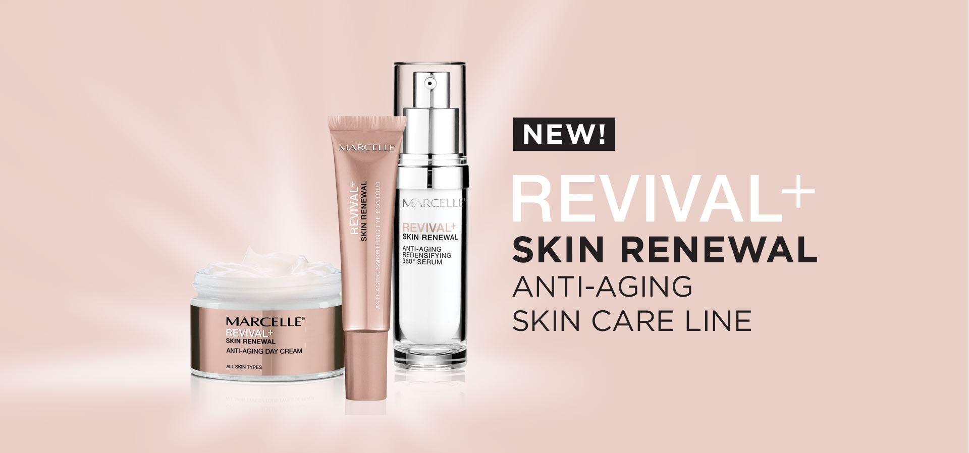New! Revival+ Skin renewal, anti-aging, skin care line.